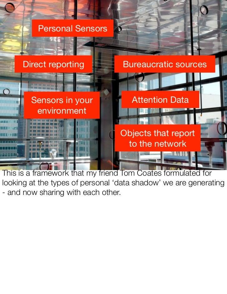 Personal Sensors         Direct reporting             Bureaucratic sources                                         Attenti...