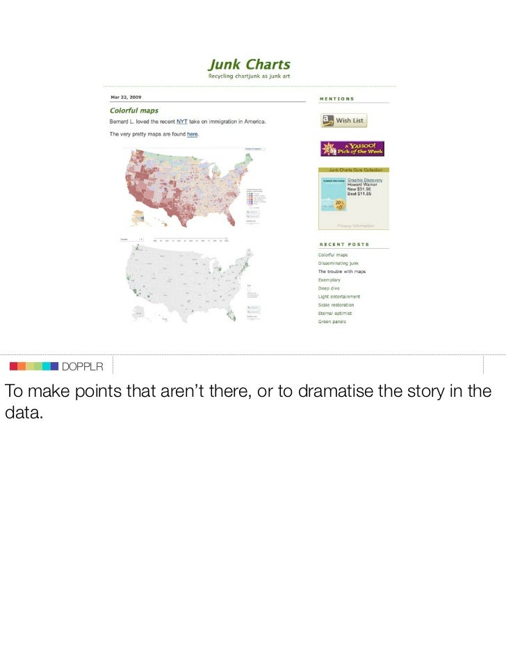 DOPPLR  To make points that aren't there, or to dramatise the story in the data.