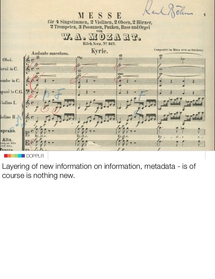 DOPPLR  Layering of new information on information, metadata - is of course is nothing new.