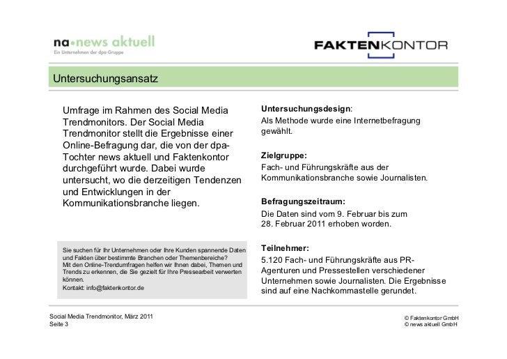 Untersuchungsansatz    Umfrage im Rahmen des Social Media                                    Untersuchungsdesign:    Trend...