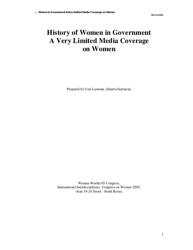 … Women in Government AVery Limited Media Coverage on Women                                                               ...