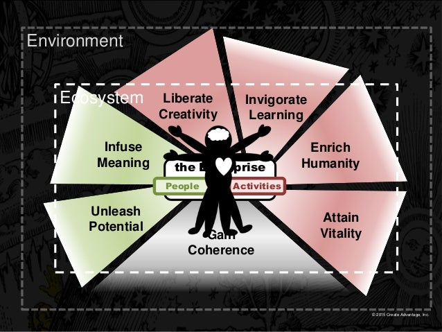 © 2015 Create Advantage, Inc. Gain Coherence Enrich Humanity Invigorate Learning Liberate Creativity Infuse Meaning Attain...