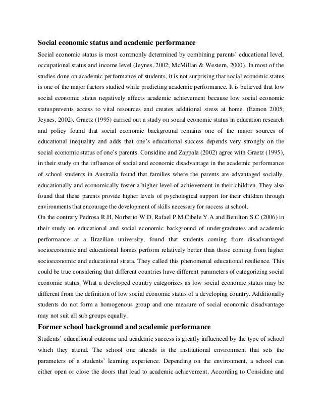 Essay on socio economic problems