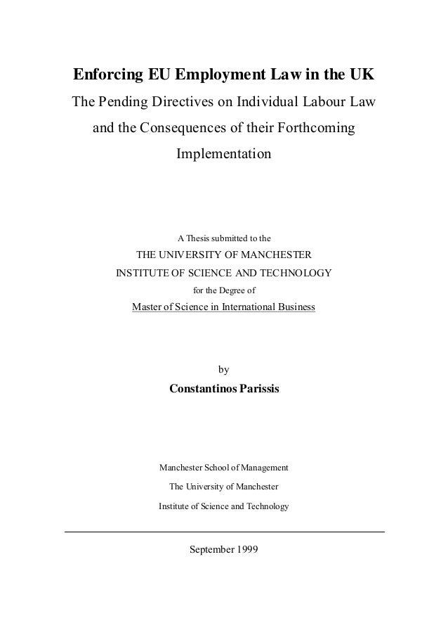 Phd thesis umist
