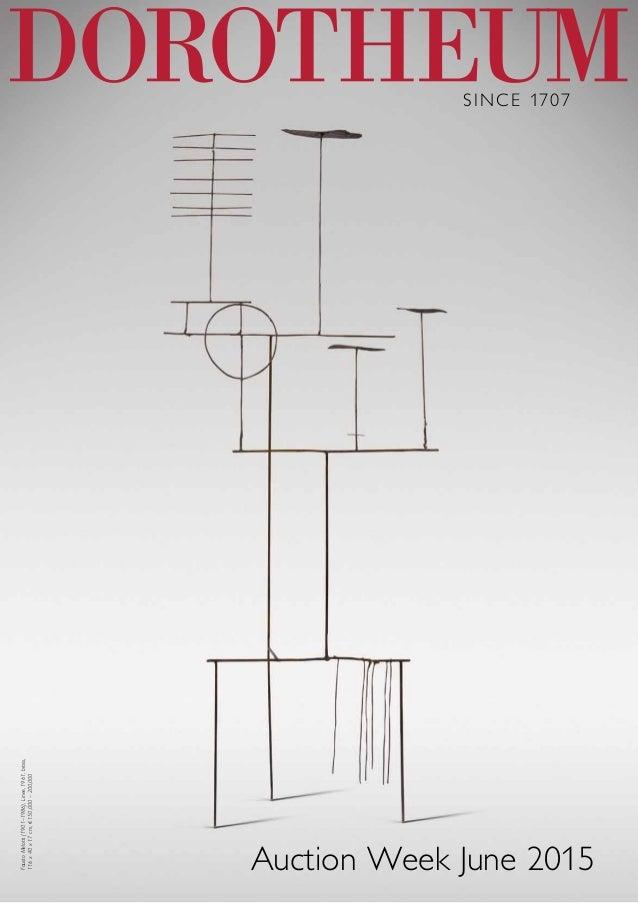 SINCE 1707 Auction Week June 2015 FaustoMelotti(1901–1986),Linee,1961,brass, 116x40x17cm,€150,000–200,000