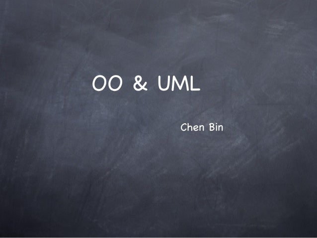 OO & UML Chen Bin