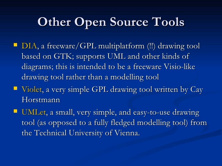 36 other open source tools - Use Case Tools Open Source