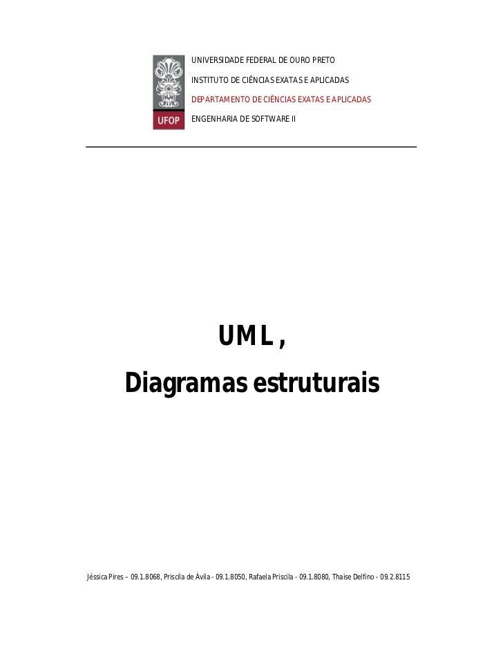 UNIVERSIDADE FEDERAL DE OURO PRETO                                    INSTITUTO DE CIÊNCIAS EXATAS E APLICADAS            ...