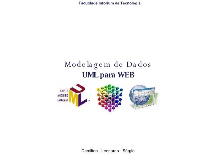 Modelagem de Dados UML para WEB Faculdade Inforium de Tecnologia