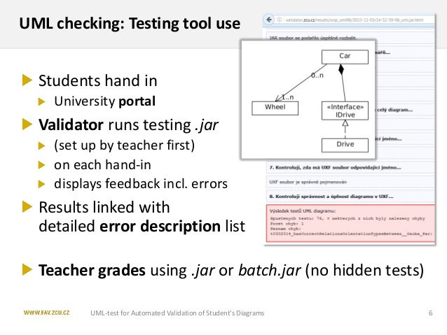 Uml test application for automated validation of students uml class students diagrams 5 6 ccuart Choice Image