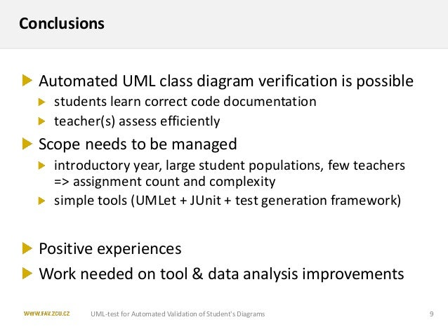Uml Test Application For Automated Validation Of Students Uml Class