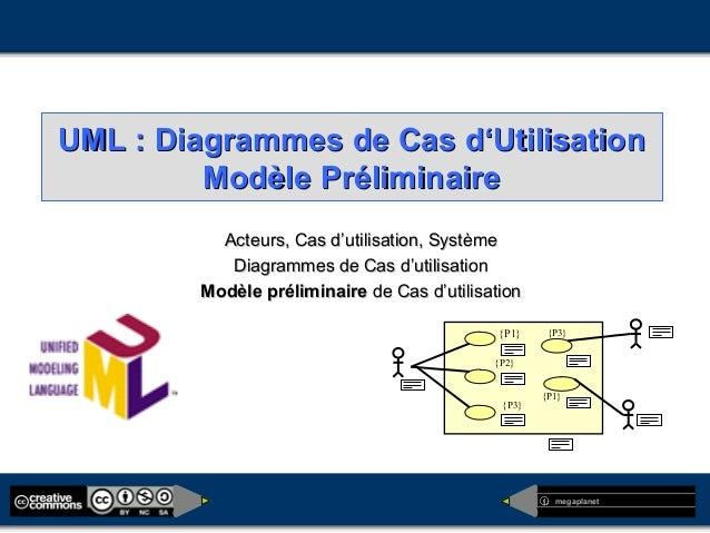 megaplanet UML : Diagrammes de Cas d'UtilisationUML : Diagrammes de Cas d'Utilisation Modèle PréliminaireModèle Préliminai...