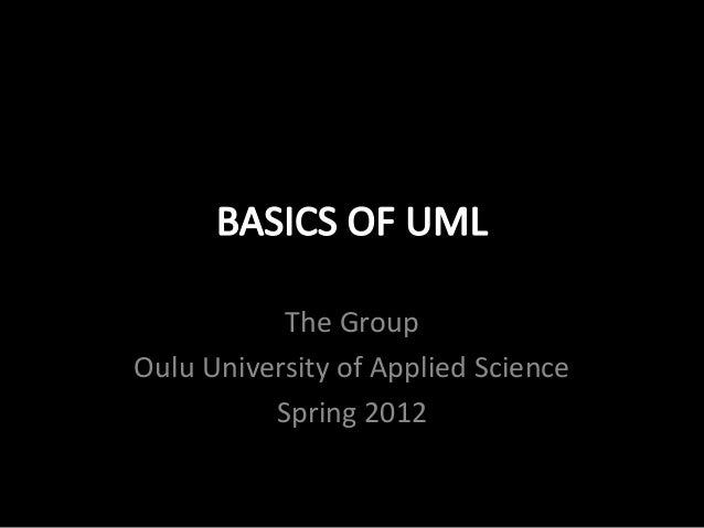 The GroupOulu University of Applied Science          Spring 2012