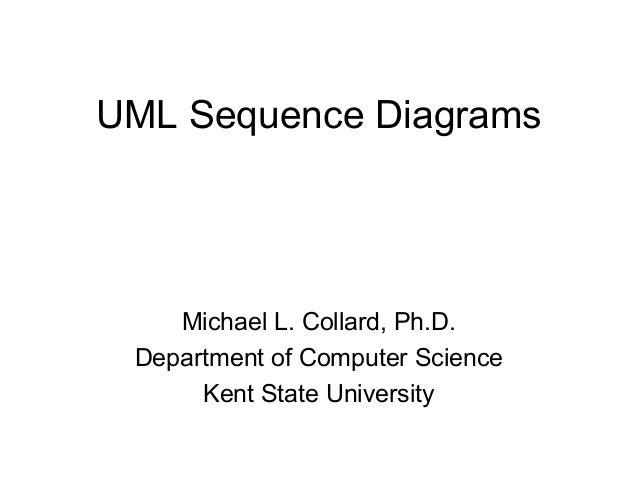 UML Sequence Diagrams  Michael L. Collard, Ph.D.  Department of Computer Science  Kent State University