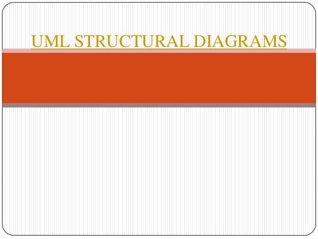Uml structural diagrams