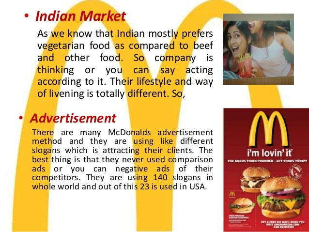 pestle mcdonalds in india A longer version of the acronym – pestle – is also used sometimes pestle  adds legal and environmental factors to the analysis  panmore institute:  mcdonald's pestel/pestle analysis & recommendations.
