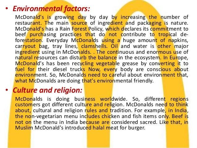 McDonald's PESTEL/PESTLE Analysis & Recommendations