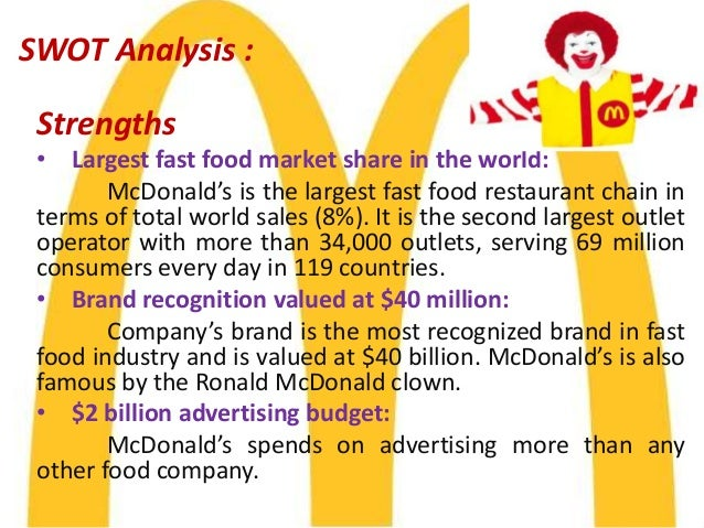 industry analysis mcdonalds Check out our top free essays on industry analysis of mcdonalds to help you write your own essay.
