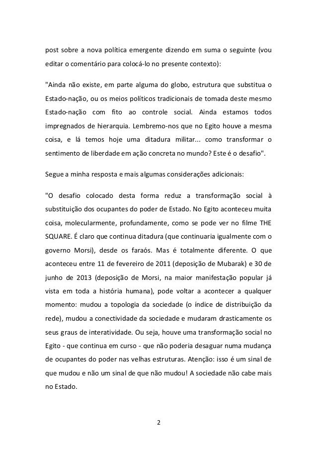 UM NOVO CONCEITO DE REVOLUÇÃO Slide 2