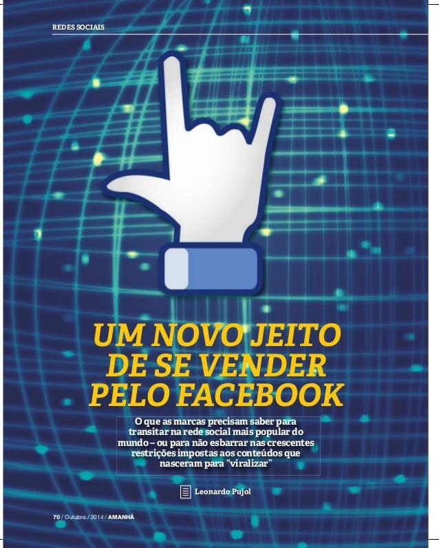 REDES SOCIAIS UM NOVO JEITO DE SE VENDER PELO FACEBOOK O que as marcas precisam saber para transitar na rede social mais p...