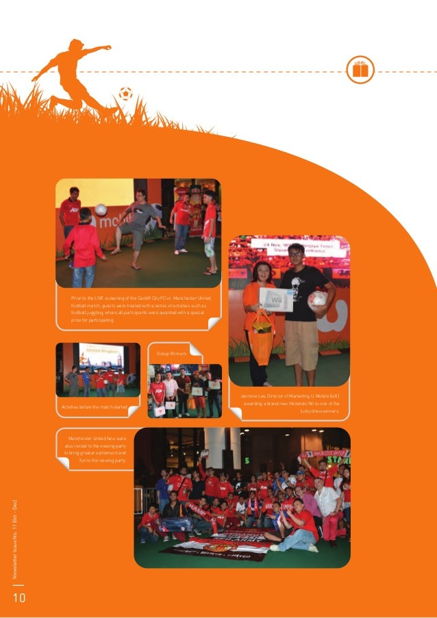 Activities before the match started Manchester United fans were also invited to the viewing party to bring greater excitem...