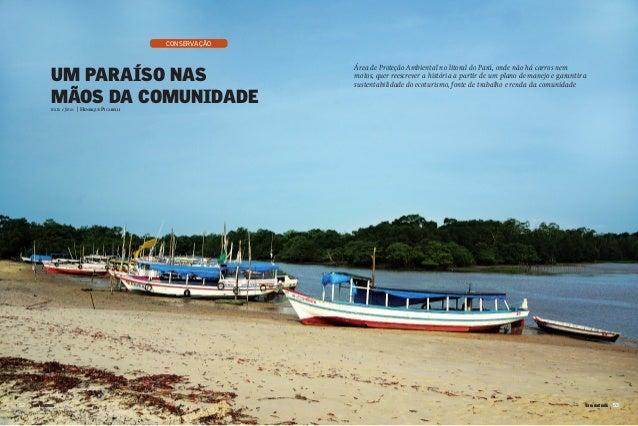 Um paraíso nasmãos da comunidadetexto e fotos | Henrique Picarelli5252 5353TerradaGente TerradaGenteconservaçãoÁrea de Pro...
