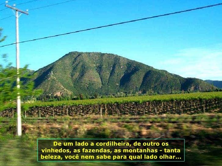 De um lado a cordilheira, de outro os vinhedos, as fazendas, as montanhas - tanta beleza, você nem sabe para qual lado olh...