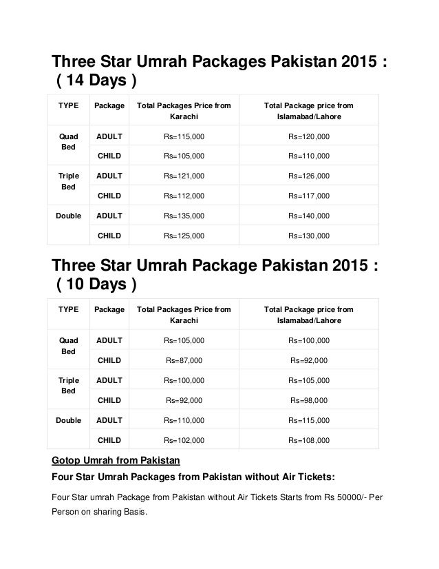Cost Of Umrah Visa Fees 2019 2020: Umrah Packages From Pakistan 2015-Cheapest Umrah Packages 2015