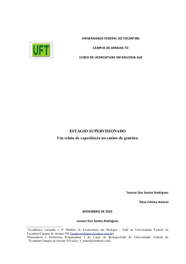 UNIVERSIDADE FEDERAL DO TOCANTINS                                           CAMPUS DE ARRAIAS-TO                          ...
