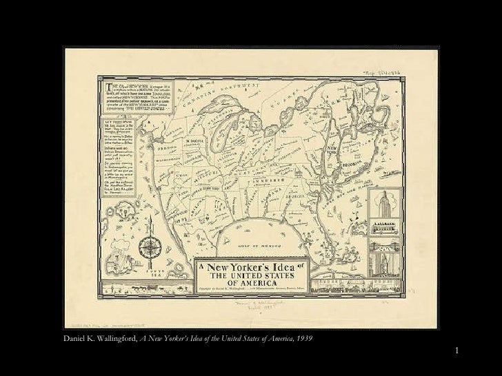 Daniel K. Wallingford,  A New Yorker's Idea of the United States of America, 1939