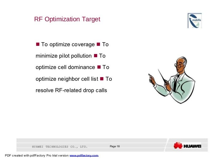 RF Optimization Target     To optimize coverage    To minimize pilot pollution    To optimize cell dominance    To opt...
