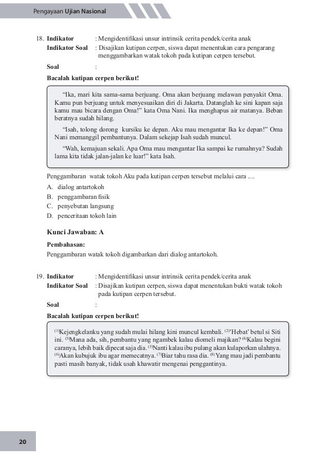 Soal Pengayaan Un Bahasa Indonesia 2015