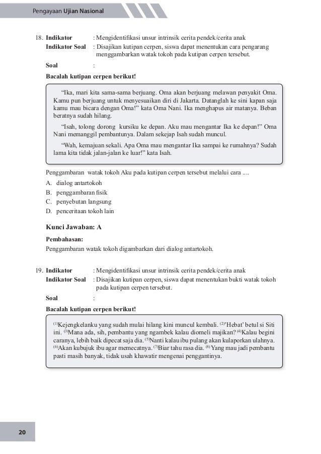 Contoh Soal Cos Dan Jawaban Unsur Instrisik Cerpen Guru Ilmu Sosial