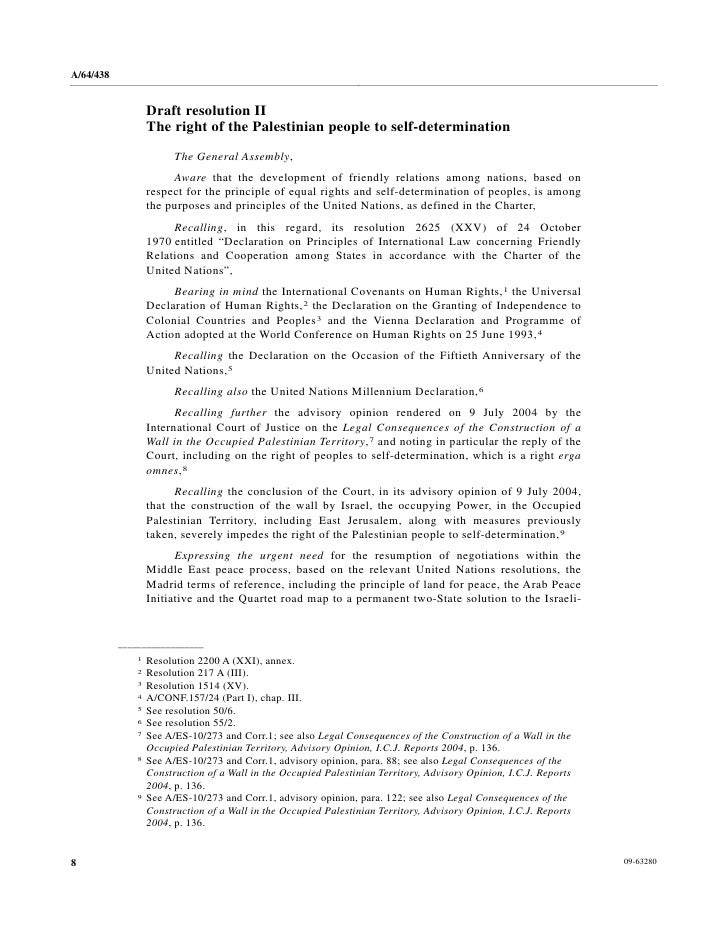 the right of self determination in the united nations This chapter addresses the interrelationship between resource sovereignty, self- determination and the right to development, as defined in the declaration on the .