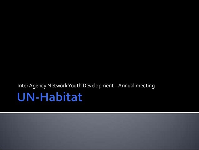 InterAgency NetworkYouth Development – Annual meeting