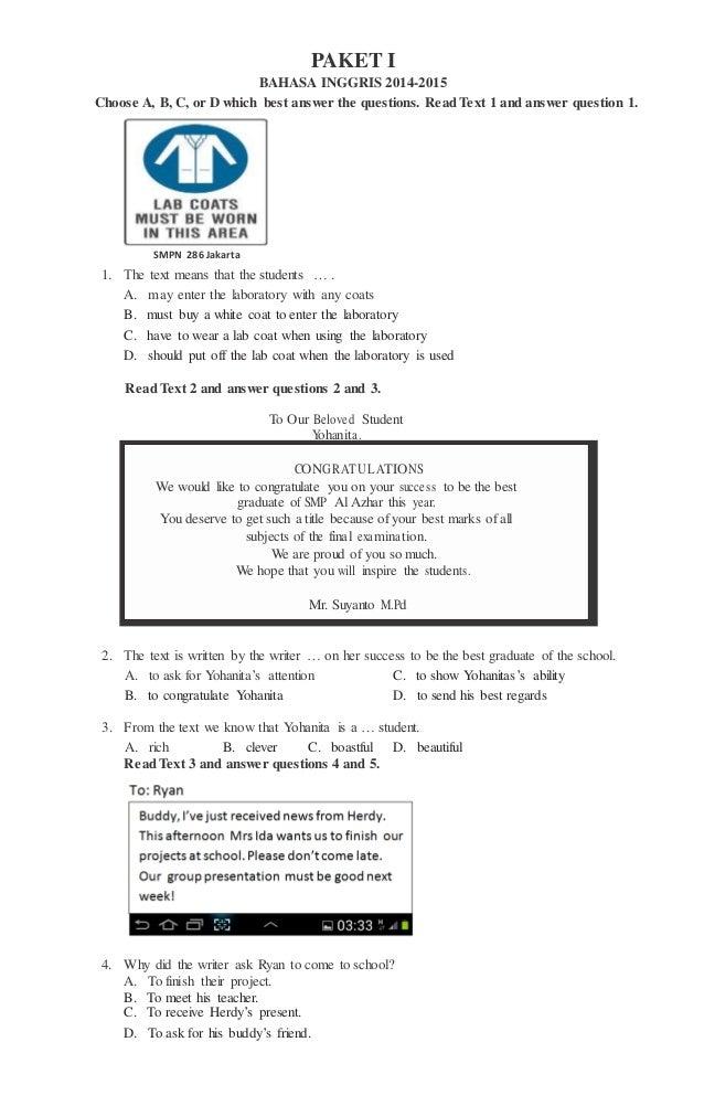 Soal Bahasa Inggris Vocabulary Group Word Pengayaan Bahasa Inggris Smp 2015 In Words