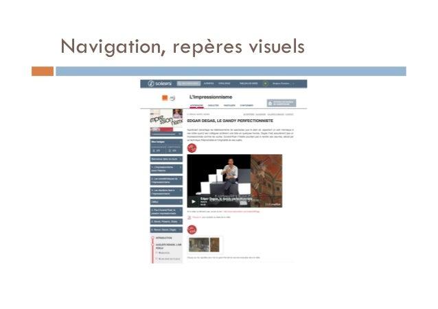 Navigation, repères visuels