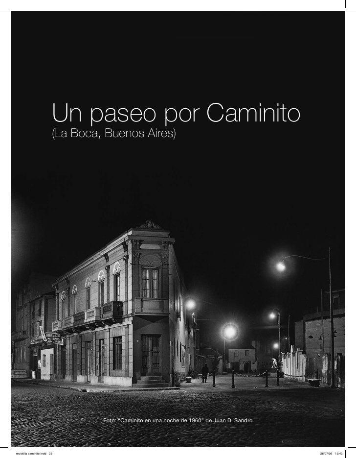 """Un paseo por Caminito(La Boca, Buenos Aires)         Foto: """"Caminito en una noche de 1960"""" de Juan Di Sandro"""