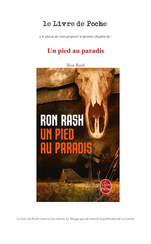 RON RASHUn pied au paradis  TRADUIT DE L'ANGLAIS (ÉTATS-UNIS)       PAR ISABELLE REINHAREZ  Ouvrage traduit avec le concou...