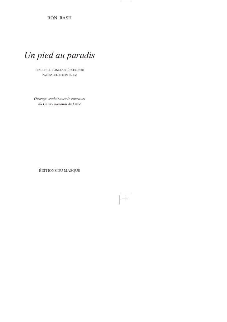 """Extrait de """"Un pied au paradis"""" de Ron Rash Slide 2"""