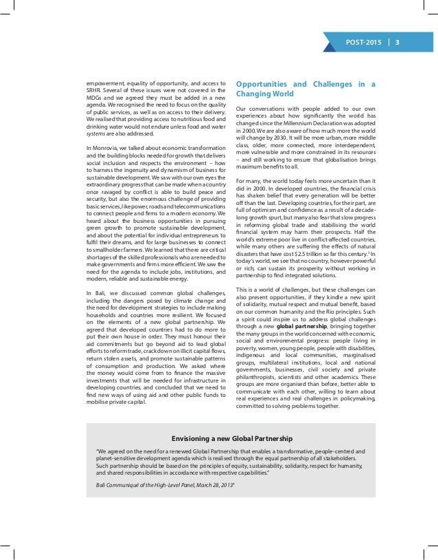 Un hlp report post 2015 document