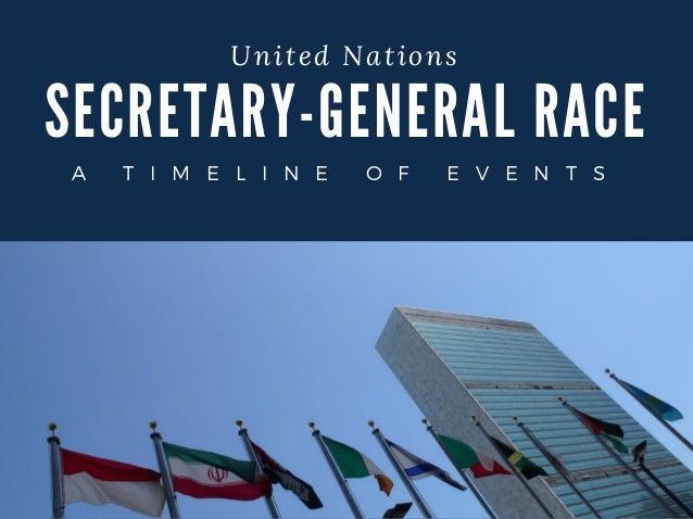 SECRETA RY- GENERA L RA CE United Nations A T I M E L I N E O F E V E N T S