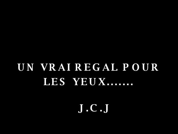 <ul><li>UN VRAI REGAL POUR </li></ul><ul><li>LES YEUX....... </li></ul><ul><li>J.C.J </li></ul>