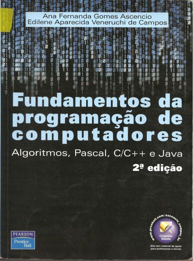 Fundamentos da programação de computadores   2ª edição