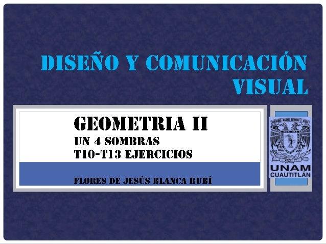 """01/04/2014 UN 4 """"SOMBRAS"""" FLORES DE JESUS BLANCA RUBÌ 2 T10. CILINDRO 1. Dibujar el cilindro en perspectiva y la proyectan..."""