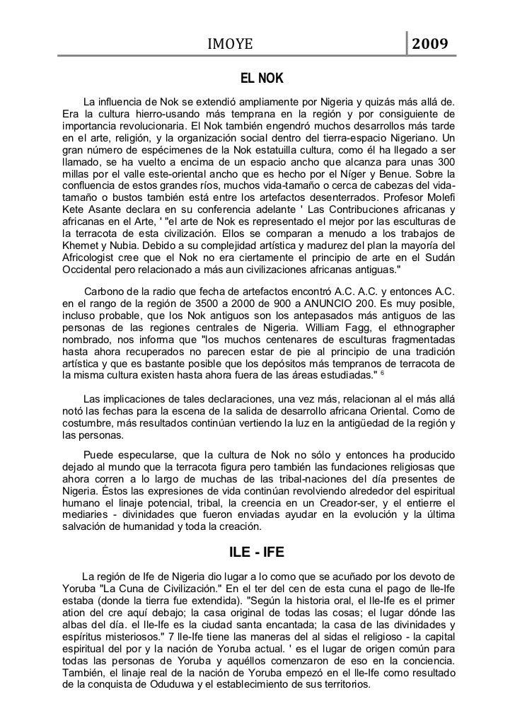 IMOYE                                          2009                                        EL NOK     La influencia de Nok...