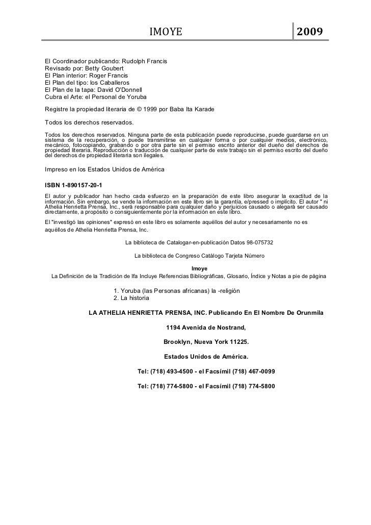 IMOYE                                                        2009El Coordinador publicando: Rudolph FrancisRevisado por: B...