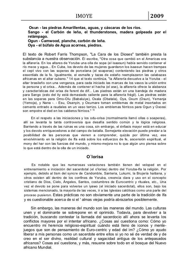 IMOYE                                             2009    Osun - las piedras Amarillentas, aguas, y cáscaras de los ríos. ...
