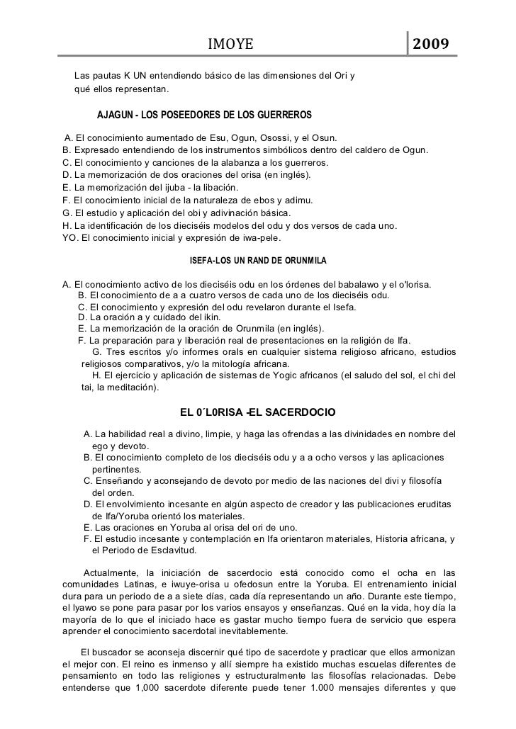 IMOYE                                              2009   Las pautas K UN entendiendo básico de las dimensiones del Ori y ...