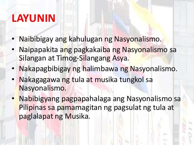 tesis tungkol sa nasyonalismo Persepsyon ng mga mag-aaral ng ranggas ramos national high school sa ika-apat na taon tungkol sa sintax law.
